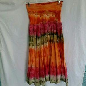 High waisted super flare Sunset skirt